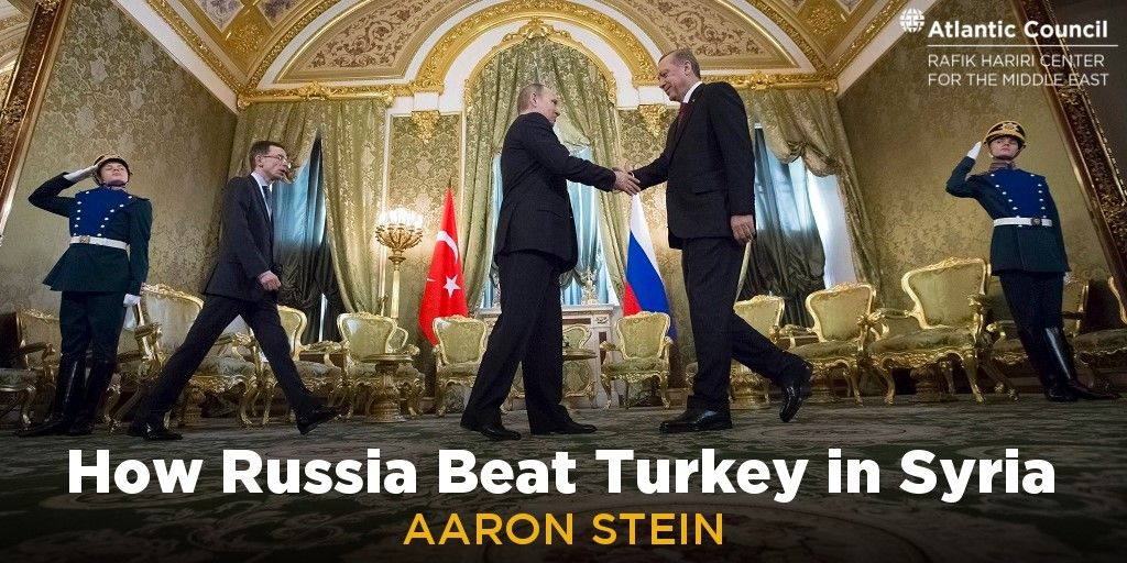 READ Senior Fellow @aaronstein1&#39;s latest in @SyriaSource: How #Russia Beat #Turkey in #Syria  http:// bit.ly/2o1D2wW  &nbsp;   @AtlanticCouncil<br>http://pic.twitter.com/2UpMcsICQV