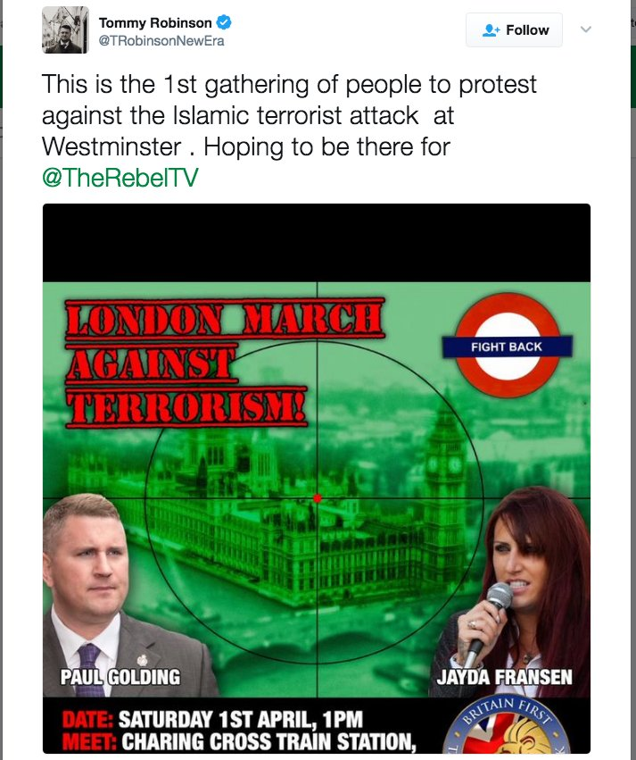 Sorry, @TRobinsonNewEra, but there's actually already been a protest about it. It was carried out by Muslim women. https://t.co/Ibyjm2RjBU