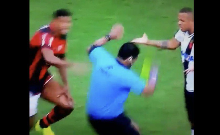 Watch a shocking act of simulation in Brazilian football - from a REFE...