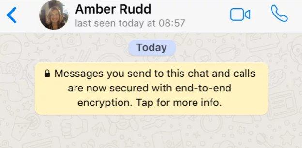 Surprise surprise, Amber Rudd is a secret WhatsApp fan. https://t.co/g...