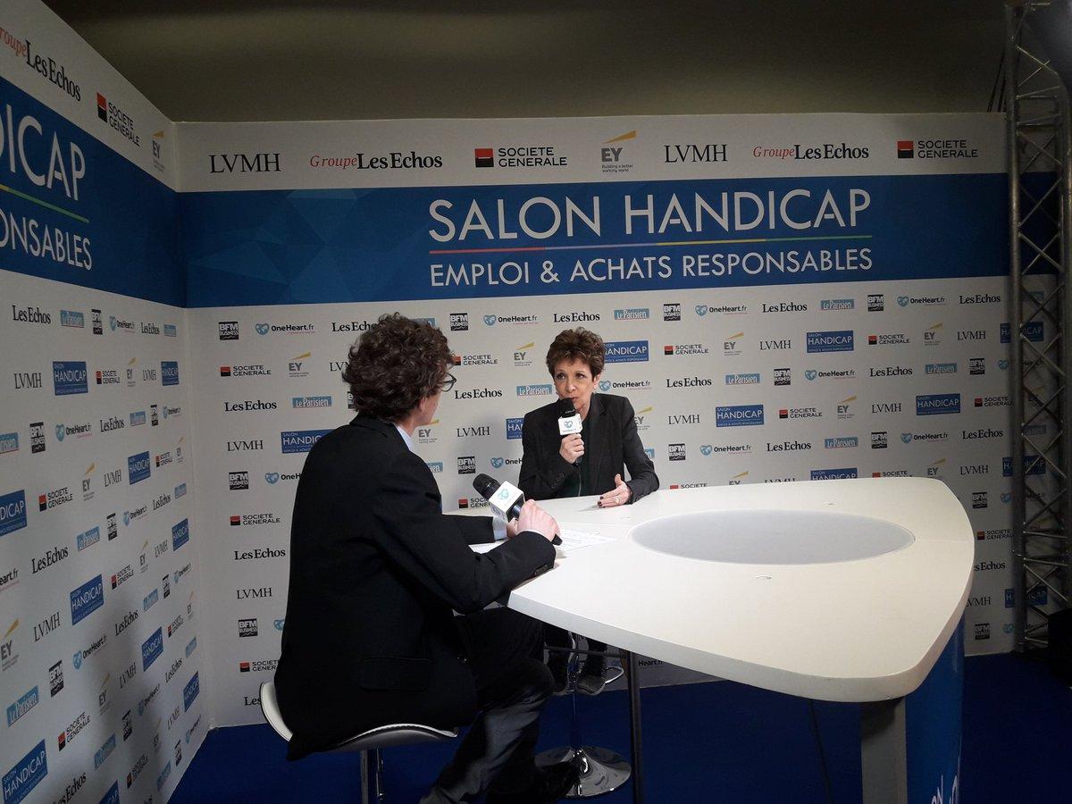 @CatherineLabord #Marraine sur la 2eme édition du #SalonHandicap #Emploi #Achats Responsables ! Suivez le #salon en #direct  #SalonHandicap<br>http://pic.twitter.com/pUAn9Nguax