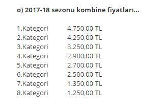 Beşiktaş, 2017-2018 sezonu için belirlediği kombine fiyatlarını açıkla...