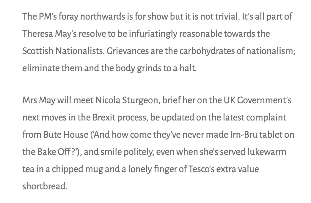 How Theresa May is handling the Scots Nats. https://t.co/Me33TG1bHX #i...