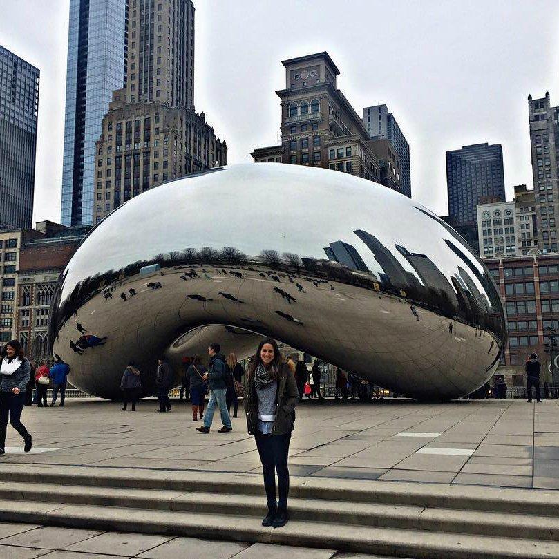 The Giant Bean #Chicago #CloudGate   #efmoment de notre étudiante en séjour dans l&#39;#Illinois  http:// bit.ly/2o05laR  &nbsp;   #efchicago<br>http://pic.twitter.com/Jyev1HLJvb