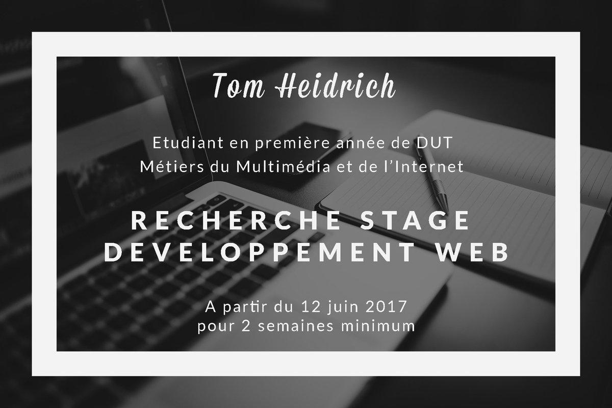 Hé Twitter, étudiant en #DUTMMI je cherche un stage de fin d&#39;année en #devweb ou #communication sur Strasbourg ou Paris Merci de #RT #stage <br>http://pic.twitter.com/sByDNTunLN