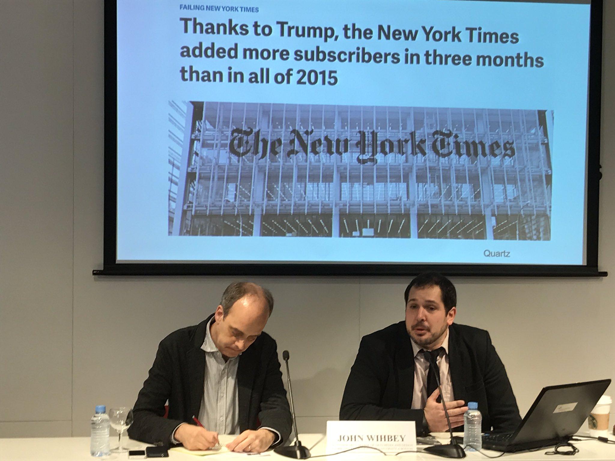 #NextMedia - Tendencias sobre medios de comunicación en Estados Unidos, según @wihbey. Un artículo de @aitaner 📝 https://t.co/n5ymvIPXMV 📈 https://t.co/MQhyi8Ai5X
