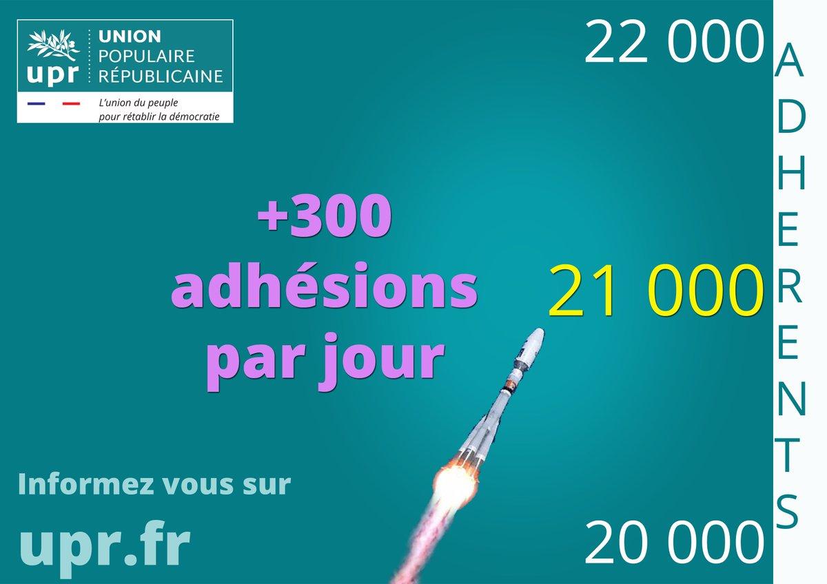 !!! #UPR.fr bat des records d&#39;adhésions +1000 #adhérents en -de72h #VOTE @uprasselineau #Presidentielle2017 #Elections2017 #FREXIT<br>http://pic.twitter.com/S7tF5Mg3U0