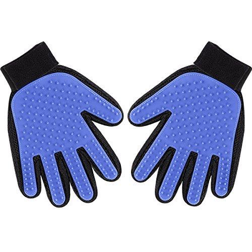 Pet Grooming Pet Deshedding Tool Cat Brushing Glove Hair Removal Pet Gloves, Pet ... -