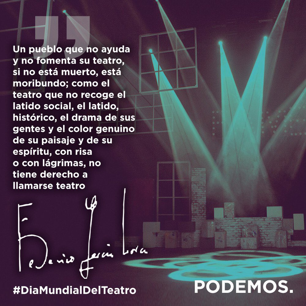 Vivamos 🎭 #DíaMundialDelTeatro https://t.co/m6HYY75M62