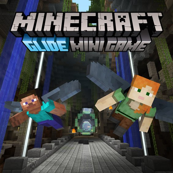 Soar with free mini game, Glide, available tomorrow for 'Minecraft: Co...