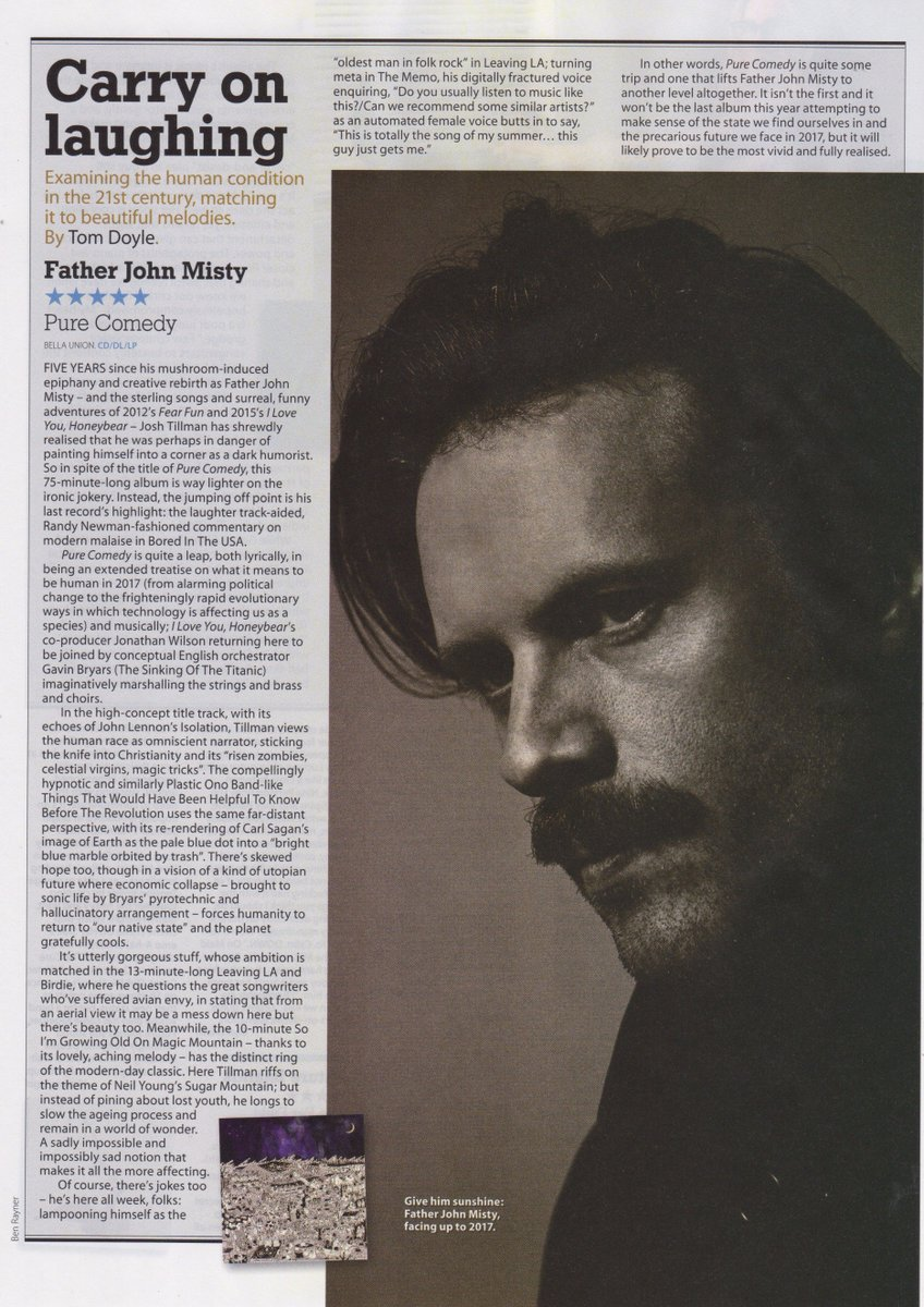 """""""A modern-day classic."""" @fatherjohnmisty gets an incredible 5 Stars***** from @MOJOmagazine https://t.co/Yqy4MOVnfI"""