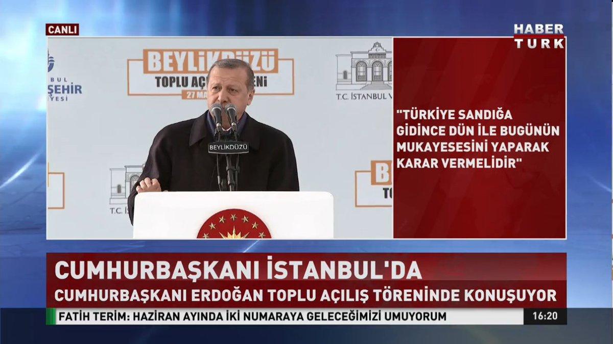 #CANLI Cumhurbaşkanı Erdoğan İstanbul'da konuşuyor https://t.co/ggQNNy...