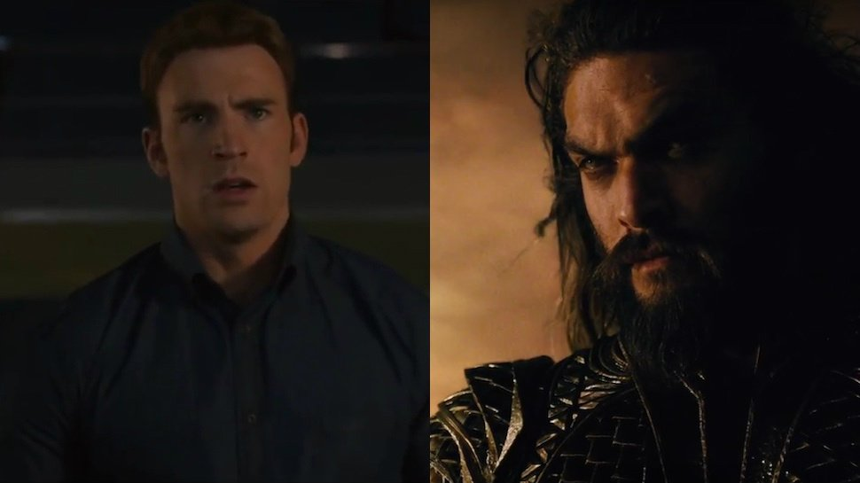 #TheAvengers don't exactly look thrilled with the new #JusticeLeague t...