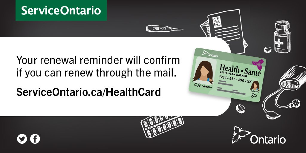 Serviceontario On Twitter In Most Cases If You Are A Senior Over 80 You Can Renew Your Health Card By Mail