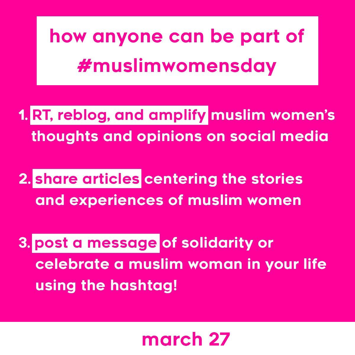 Here are 3 ways you can support #MuslimWomensDay today: https://t.co/p...