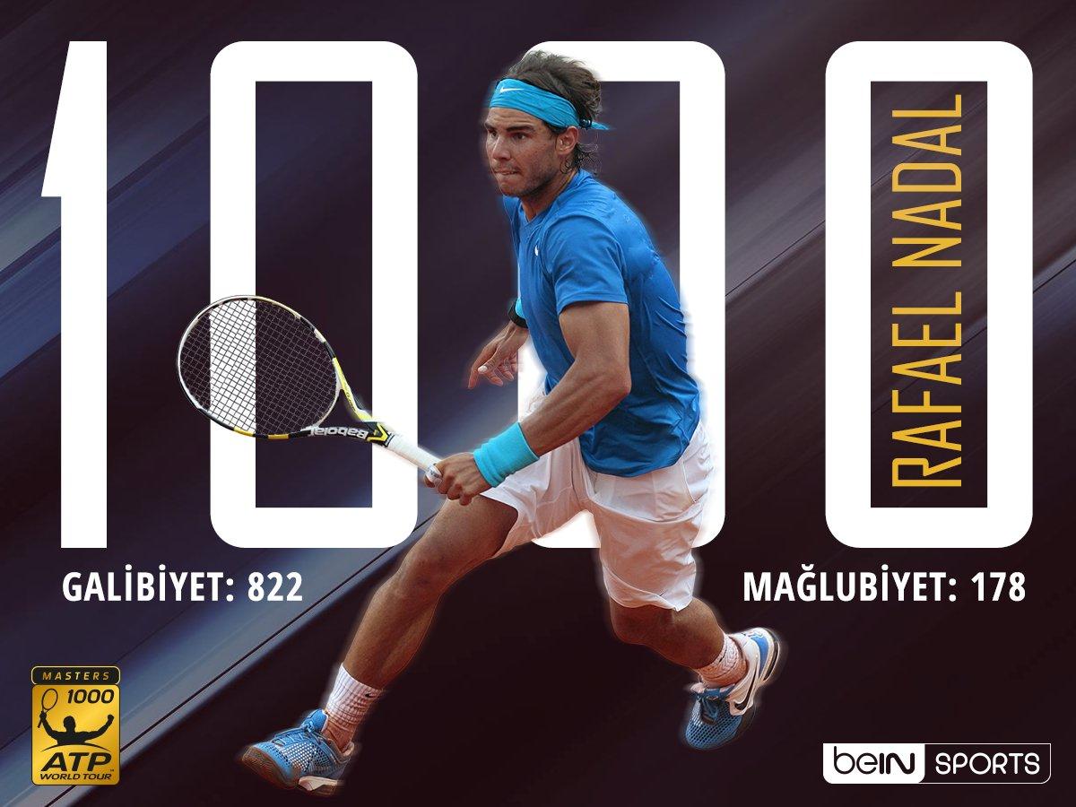 Dünya'nın en başarılı 7. Tenisçisi Rafael Nadal,  ATP Miami Open'da ka...