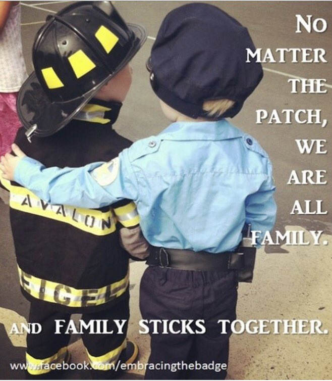 RT and Like if you  the Police and Firefighter bond ! #iMatter #FirstResponders (Image via Embracing the Badge on FB) <br>http://pic.twitter.com/GKDeGDUXNL