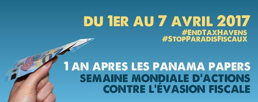 Semaine du 1er au 7 avril : tou.te.s mobilisé.e.s contre l&#39;#EvasionFiscale. Rejoignez-nous et inscrivez vous !  http://www. stopparadisfiscaux.fr/IMG/pdf/progra mme_des_actions_organisees_par_les_differentes_associations_ou_syndicats.pdf &nbsp; … <br>http://pic.twitter.com/wpiJOnKc49