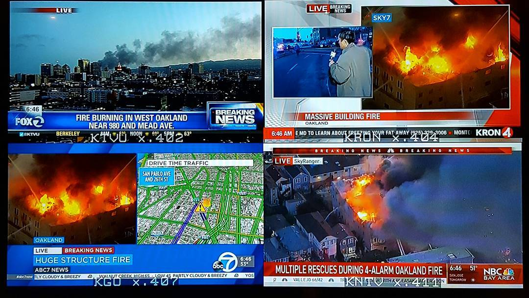 #BREAKING: Be careful this morning! HUGE 4-alarm fire currently happen...