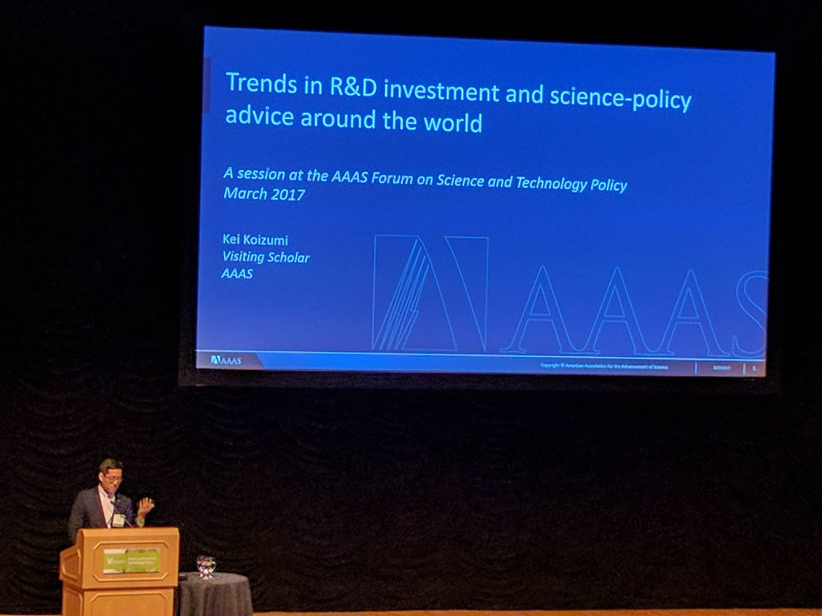 Kei Koizumi looks at international R&D funding by looking at the r...