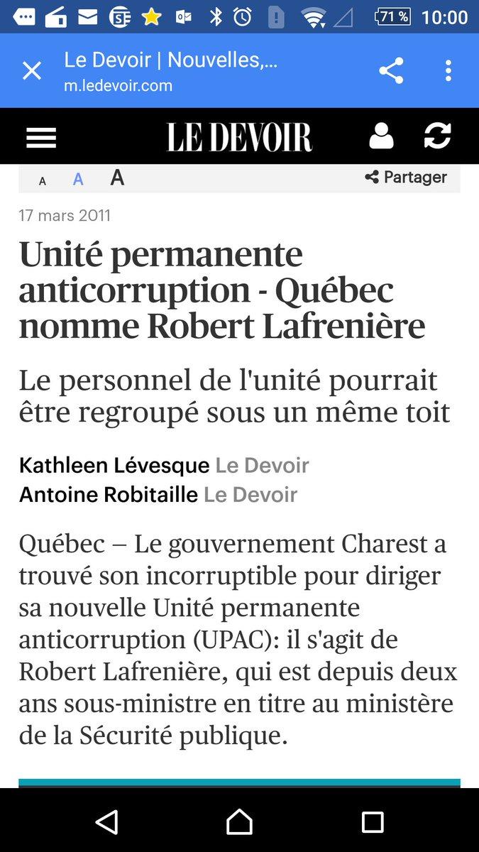 C&#39;est certain qu&#39;avec un ex sous ministre #PLQ à la tête de l&#39; #Upac  , aucune chance de conflit d&#39;intérêts... #corruption #dpcp #postit<br>http://pic.twitter.com/2olaDB0F2h