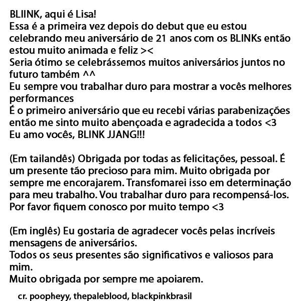"Blλɔkpiиk Brasil On Twitter: ""[Staff Report] Feliz Aniversário"