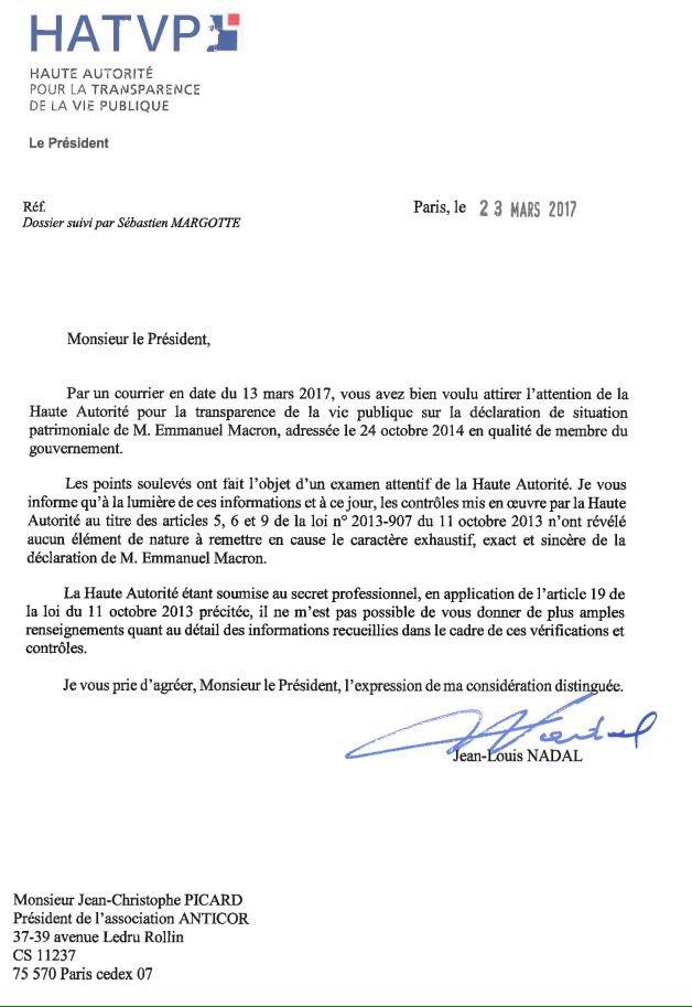 Le patrimoine d&#39;@EmmanuelMacron ! Une transparence totale constatée par la plus haute autorité ! #EnMarche #Macron2017 @JeunesMacron<br>http://pic.twitter.com/6E7nQ2nIom