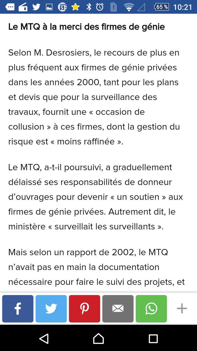 @liseravary la perte d&#39;expertise coûte cher au #mtq les compagnies se vérifient elles-mêmes! #A13 sous traitance..<br>http://pic.twitter.com/SvUlVNSTps