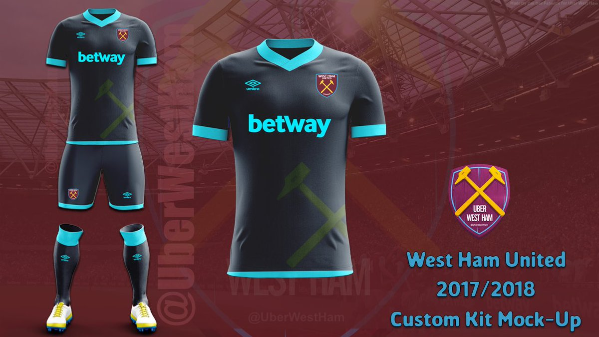 buy popular 209f7 2ed90 promo code west ham united personalized away soccer club ...