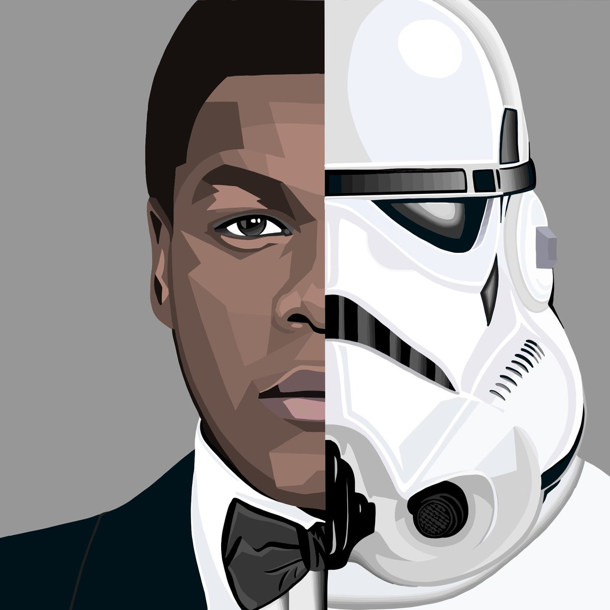 @JohnBoyega vs FN-2187  #johnboyega #finn #stormtrooper #StarWars #starwarsart #wallart #art #vector #london #create<br>http://pic.twitter.com/wni4e7uBNd