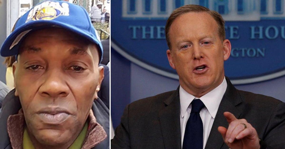 Sean Spicer refuses to acknowledge NYC stab victim Timothy Caughman's...
