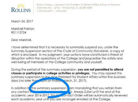 Rollins College suspends student for challenging radical Muslim professor!