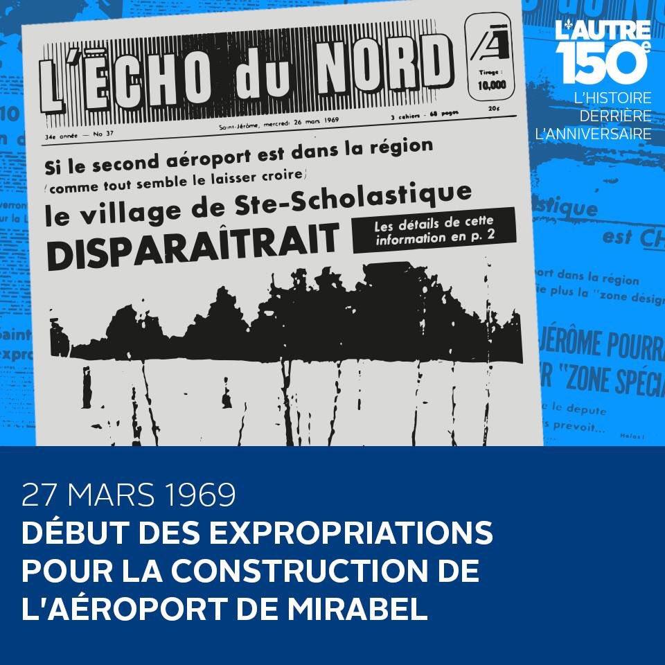 27 mars 1969 - Début du fiasco de l&#39;aéroport de Mirabel   https://www. facebook.com/autre150e/post s/1318056981594743:0 &nbsp; …  #polqc #polcan #canada150 <br>http://pic.twitter.com/DiupwnSUSB