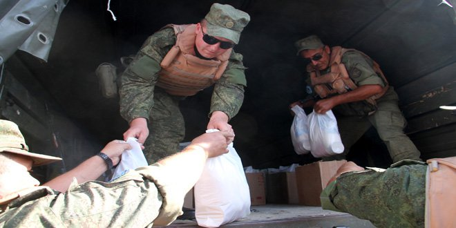 While MSM #FakeNews &amp; Lies contineus:#Russia Conducts 6 #Humanitarian operations in #Syria,delivered 1.7 Tons of aid to #Syrian #Civilians.<br>http://pic.twitter.com/3gUWfKLr6Z