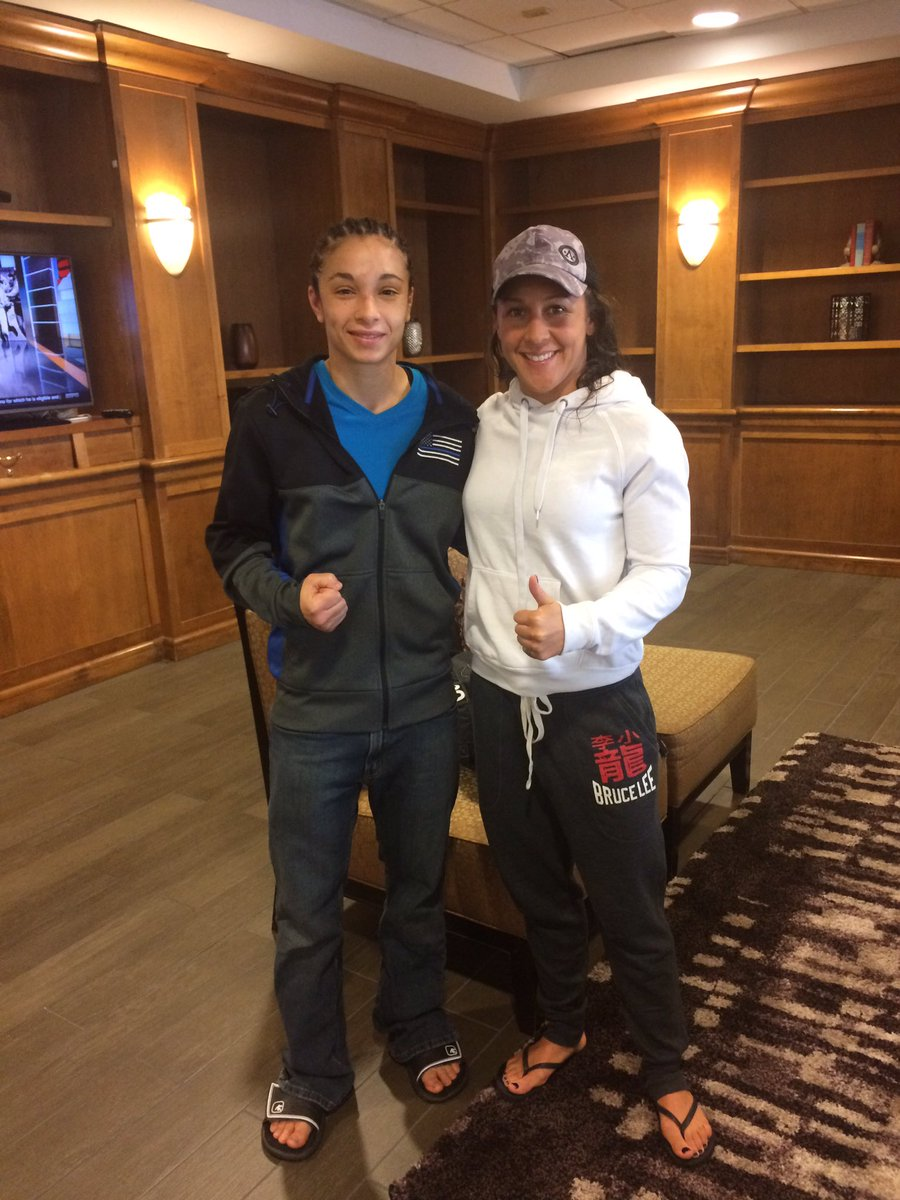 With fellow first responder and @InvictaFights athlete, @JodieEsquibel, after our wins! #InvictaFC22 #firstresponders <br>http://pic.twitter.com/QOqtIB46YR