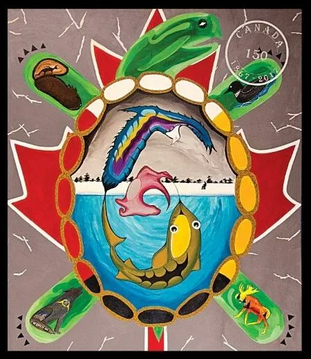 Urban Aboriginal School students create #Canada150 mural w/ support from @VIBEArtsTO, @laidlawfdn & @CommFdnsCanada https://t.co/5UGycUuU76 https://t.co/JnHugWKTIV