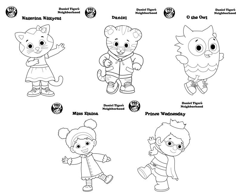 daniel tiger on twitter celebrate nationalcoloringday with these free coloring sheets from the danieltigerpbs website httpstcovogv77p80u - Daniel Tiger Coloring Pages
