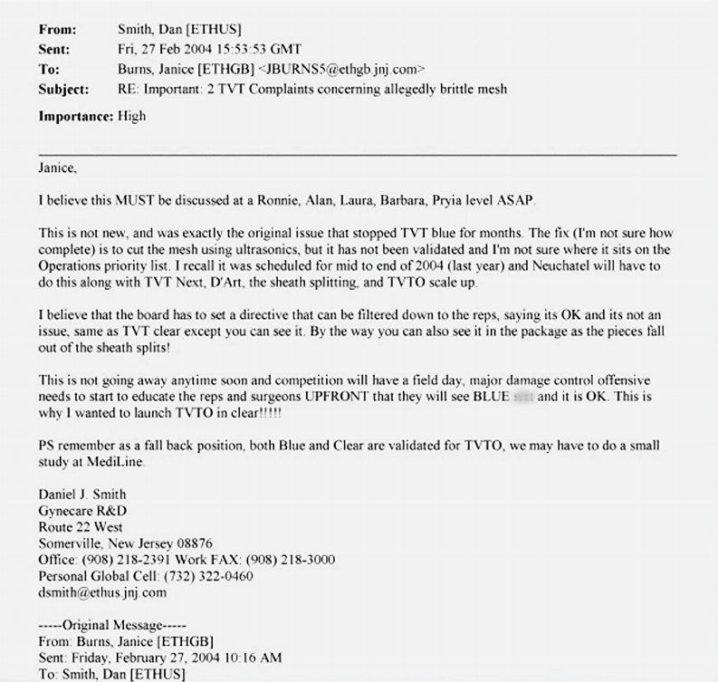 Fragments fall off #mesh implants on insertion #Papantonio Show #JohnsonandJohnson product maims #slingthemesh 3.31  https://www. youtube.com/watch?v=UE5zKg I9-m8 &nbsp; … <br>http://pic.twitter.com/tswinYLed8