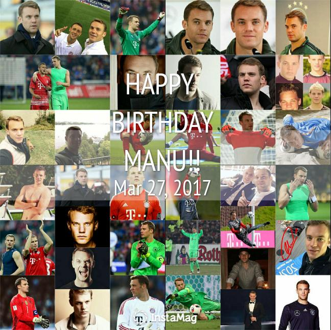 Happy birthday to the best goalkeeper in the world, all the best for you.