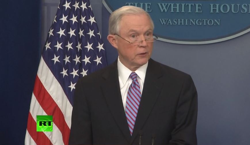 BREAKING: Attorney General #JeffSessions announces action against #sanctuarycities  https:// on.rt.com/874f  &nbsp;  <br>http://pic.twitter.com/6Q59zzh94t