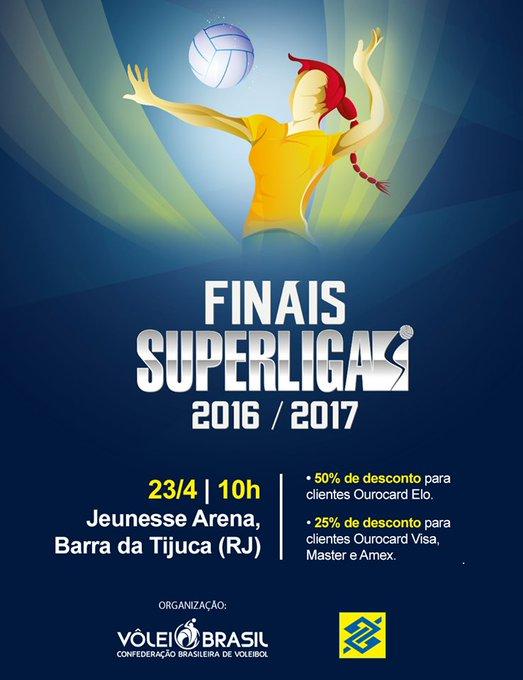 O Rio vai esquentar ainda mais com a final da Superliga Feminina de Vôlei! Garanta o seu ingresso https://t.co/X1GfsxC01T #TorcidaBrasil 😉👊🏐