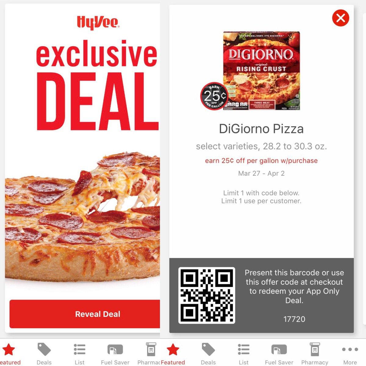 Happy Monday! Earn a 25¢ Fuel Saver when you purchase a DiGiorno Pizza...