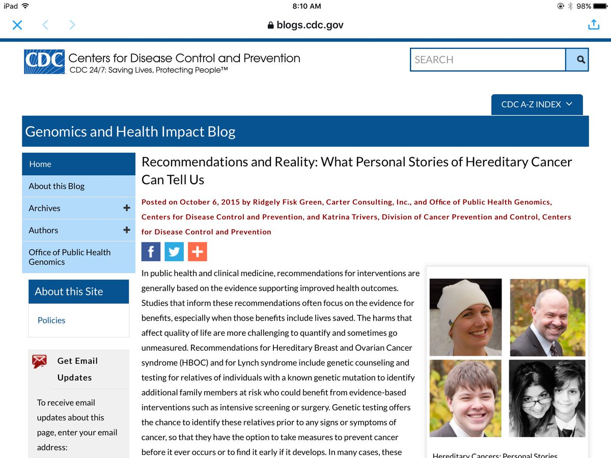 The power of personal stories of patients with hereditary cancers. #GenCSM https://t.co/4qnj80Dn8p https://t.co/LoyGV0DdNi