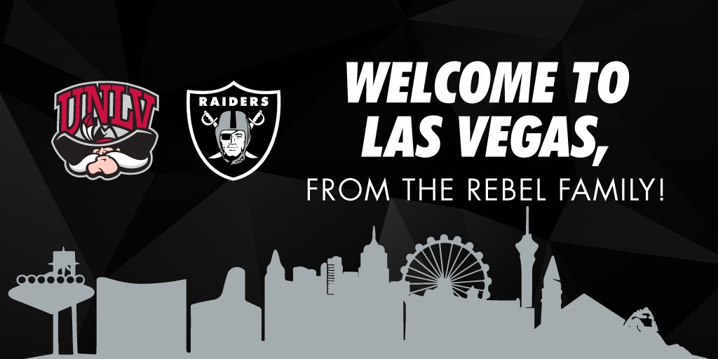 Congratulations @Raiders! #UNLV Athletics is excited to welcome you to Las Vegas! https://t.co/2l4U4v5yn8