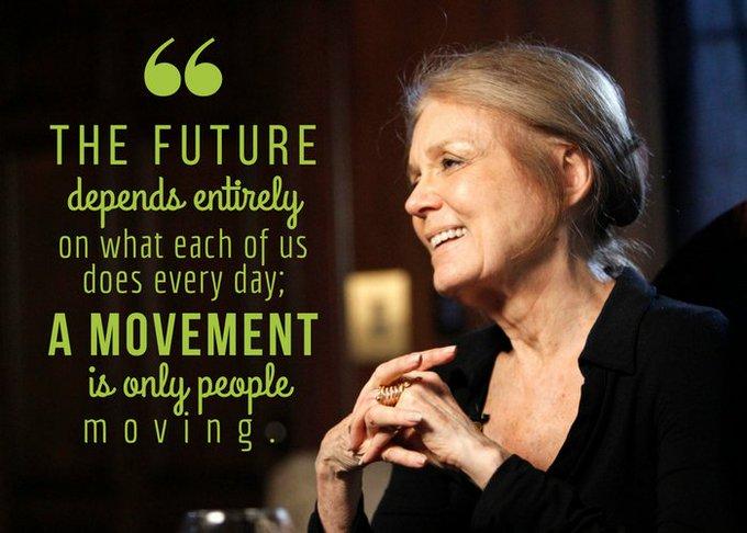 Happy belated birthday to Gloria Steinem!