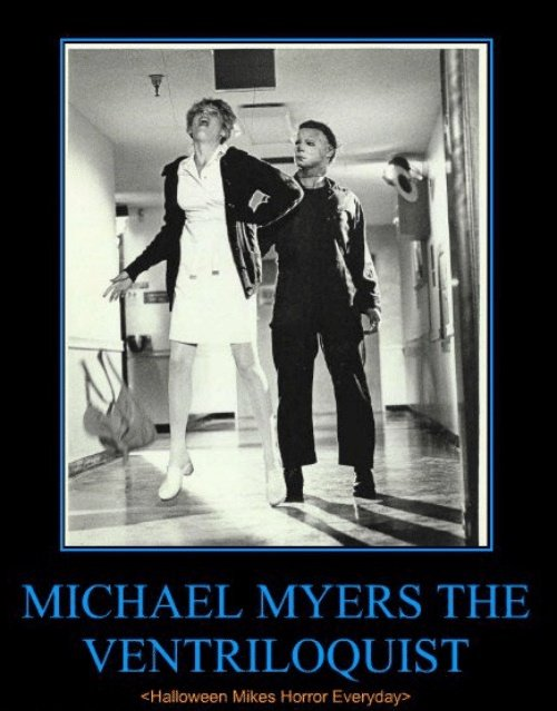 Even crazy killers need #hobbies #michaelmyers ventriloquist #michaelmyersmonday #horrorhumor #horror #horrorfan #horrorgeek  #MondayMood<br>http://pic.twitter.com/lx2DpheR2w