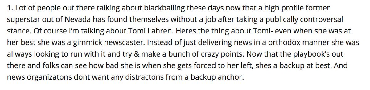 Is Tomi Lahren being blackballed? no shes just not talented enoug 2 me...