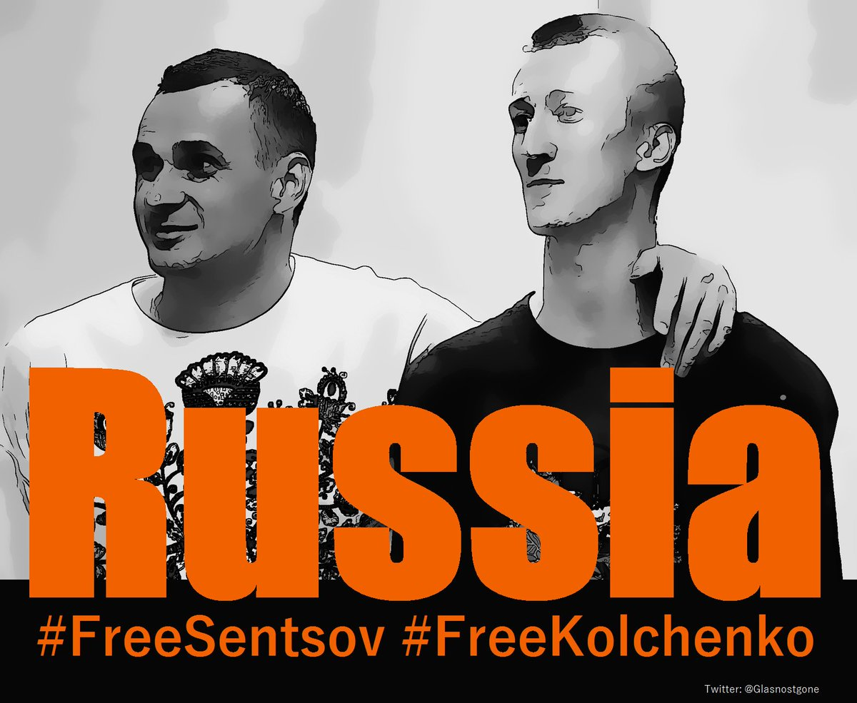 As well as arresting lots of Russians, Putin&#39;s arresting lots of Ukrainians. Please don&#39;t forget them #FreeSentsov #FreeKolchenko #Crimea <br>http://pic.twitter.com/mLcuubGRhE