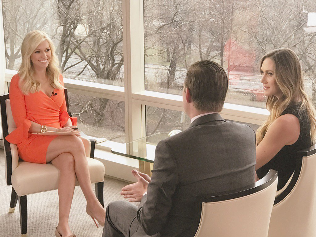 Tomorrow my interview w/ @EricTrump & #LaraTrump. 1st on camera interview since announcing pregnancy @foxandfriends