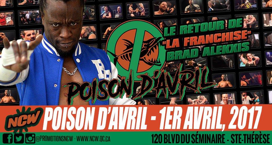 Return of the Franchise @BradAlekxis! #lutte #wrestling #canada #quebec #montreal #laval #rivenord #aprilfools #Rapper #actor #wrestler<br>http://pic.twitter.com/2xjeIyGqra